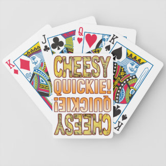 Quickie Blue Cheesy Bicycle Playing Cards
