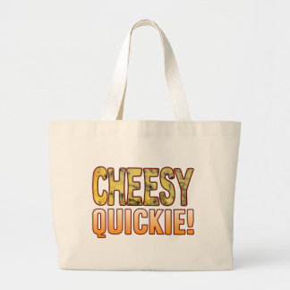 Quickie Blue Cheesy Large Tote Bag