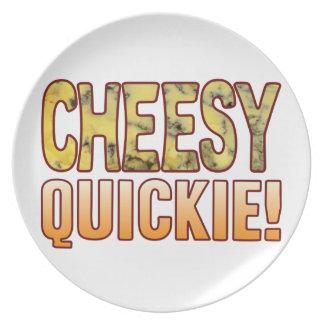 Quickie Blue Cheesy Melamine Plate