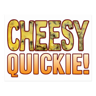 Quickie Blue Cheesy Postcard