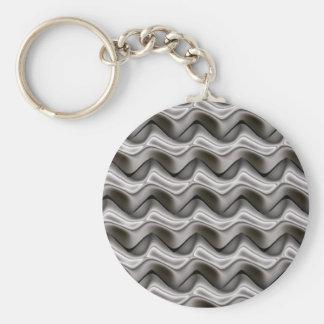Quicksilver Zig Zags Basic Round Button Keychain