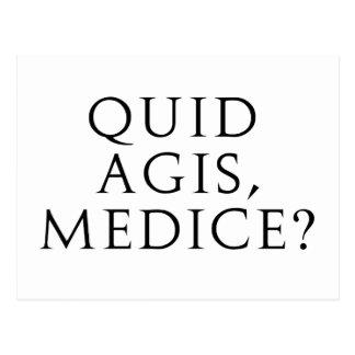 Quid Agis, Medice? Postcard