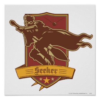 Quidditch Seeker Badge Posters