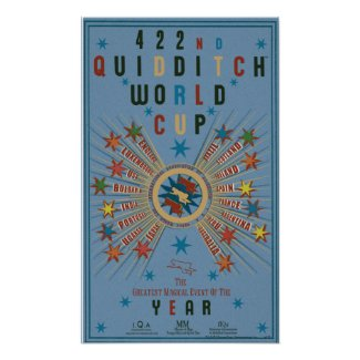 Quidditch World Cup Blue Poster print