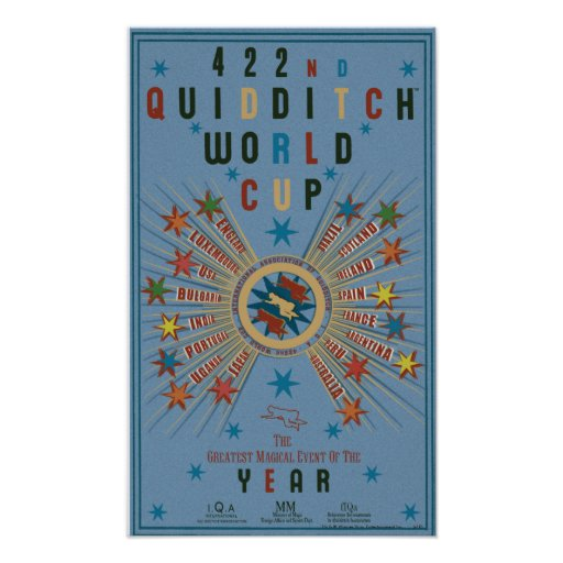 Quidditch World Cup Blue Poster Zazzle
