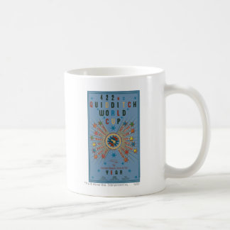 Quidditch World Cup Blue Poster Classic White Coffee Mug