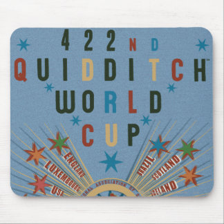 Quidditch World Cup Blue Poster Mouse Pad