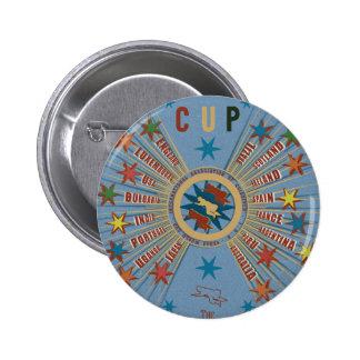 Quidditch World Cup Blue Poster Pinback Button