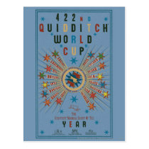 QUIDDITCH™ World Cup Blue Poster Postcard
