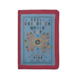 Quidditch World Cup Blue Poster Tri-fold Wallets