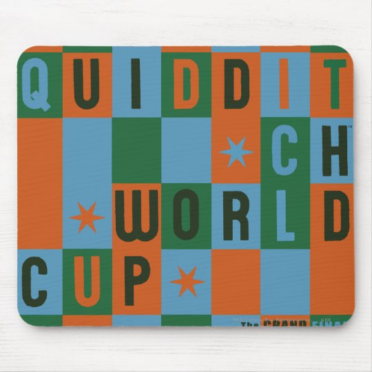 QUIDDITCH™ World Cup Checkerboard Poster Mouse Pad