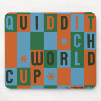 Quidditch World Cup Checkerboard Poster Mouse Pad