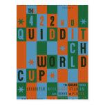 Quidditch World Cup Checkerboard Poster Postcard