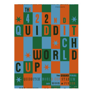 Quidditch World Cup Checkerboard Poster Postcard