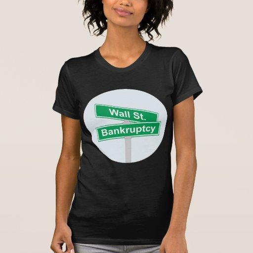 Quiebra de Wall Street - ocupe la muestra de Wall  Camisetas