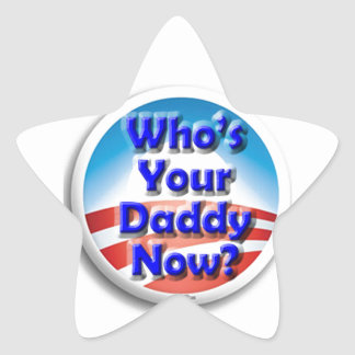 ¿Quién ahora es su papá? Pegatina En Forma De Estrella