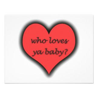 ¿Quién ama al bebé de Ya Comunicado Personalizado