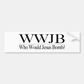 Quién bomba de Jesús (Wwjb) Pegatina De Parachoque
