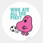 ¿Quién comió todas las empanadas? Pegatinas Redondas