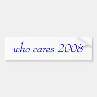 quién cuida a la pegatina para el parachoques 2008 pegatina para auto