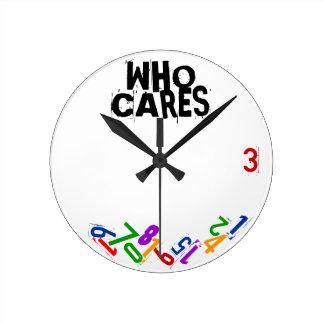 Quién cuida el reloj de pared de los números que