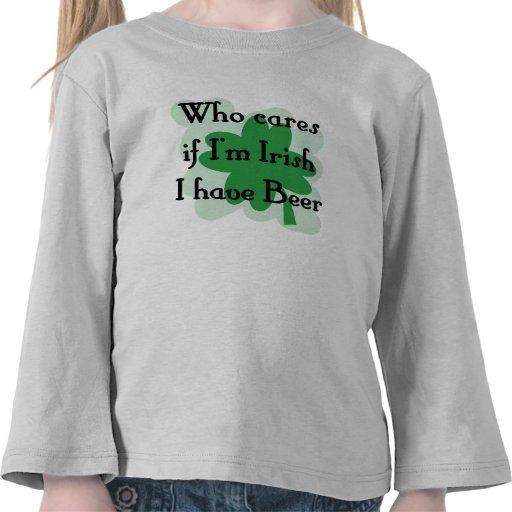 quién cuida - irlandés camisetas