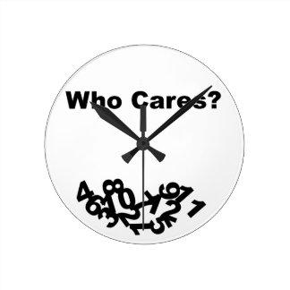 ¿Quién cuida? Reloj Redondo Mediano