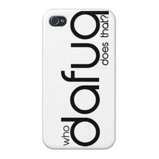 ¿Quién Dafuq hace eso? caso del iPhone 5 iPhone 4/4S Carcasa