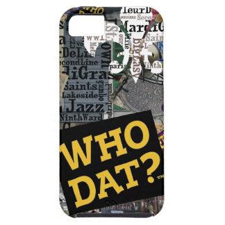 ¿Quién Dat? Cubiertas del arte iphone5 del collage iPhone 5 Case-Mate Carcasa
