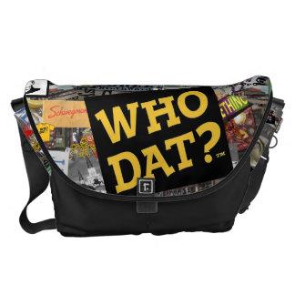 ¿Quién Dat La bolsa de mensajero del arte del col Bolsas De Mensajería
