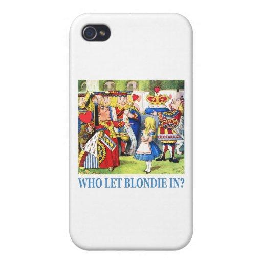 ¿Quién dejó Blondie adentro? iPhone 4/4S Funda