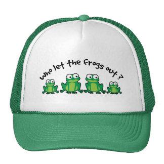 ¿Quién dejó las ranas hacia fuera? Gorro
