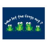 ¿Quién dejó las ranas hacia fuera? Postal