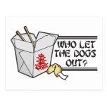 Quién dejó los perros hacia fuera postal