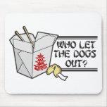 Quién dejó los perros hacia fuera tapete de ratones