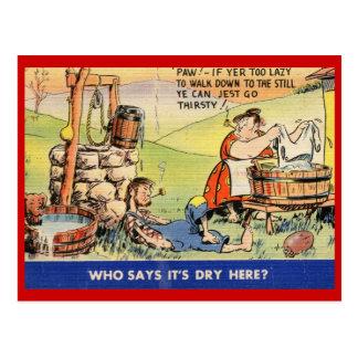 ¿Quién dice que es seco aquí? Vintage Postal