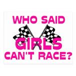 ¿Quién dijo que los chicas no pueden competir con? Postal