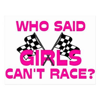 ¿Quién dijo que los chicas no pueden competir con? Tarjeta Postal