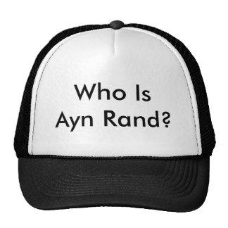 ¿Quién es Ayn Rand? Gorras