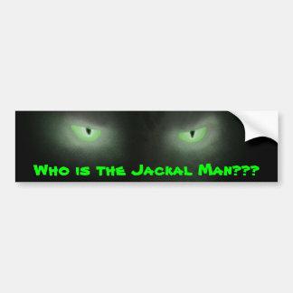 ¿Quién es el hombre del chacal??? Pegatina De Parachoque
