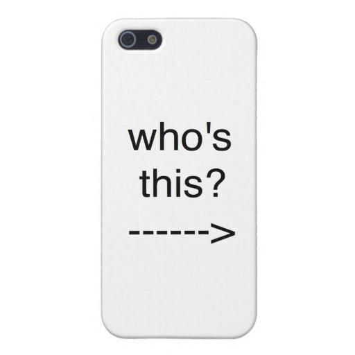 ¿quién es éste? iPhone 5 coberturas
