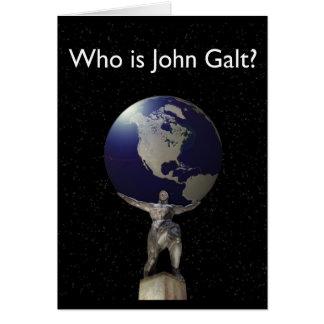 ¿Quién es Juan Galt? - Atlas con el globo Tarjeta De Felicitación