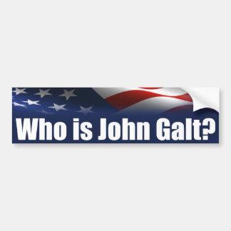 ¿Quién es Juan Galt? Etiqueta De Parachoque