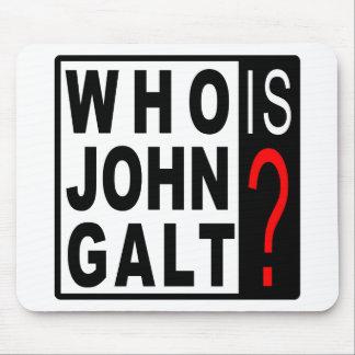 ¿Quién es Juan Galt cojín de ratón Tapetes De Ratón