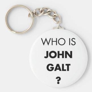 ¿Quién es Juan Galt? La pregunta Llavero Redondo Tipo Pin