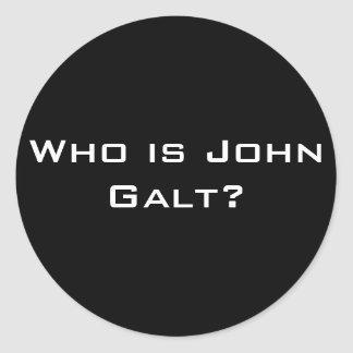 ¿Quién es Juan Galt? Pegatina Redonda