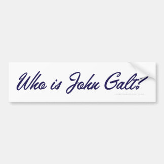¿Quién es Juan Galt? Pegatina para el parachoques Pegatina Para Auto