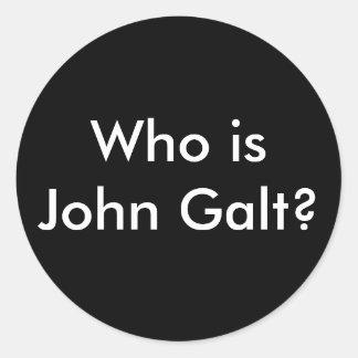 ¿Quién es Juan Galt? pegatinas Pegatina Redonda