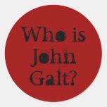 ¿Quién es Juan Galt? Pegatinas Redondas