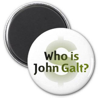 ¿Quién es Juan Galt? Símbolo del dinero Imán Redondo 5 Cm